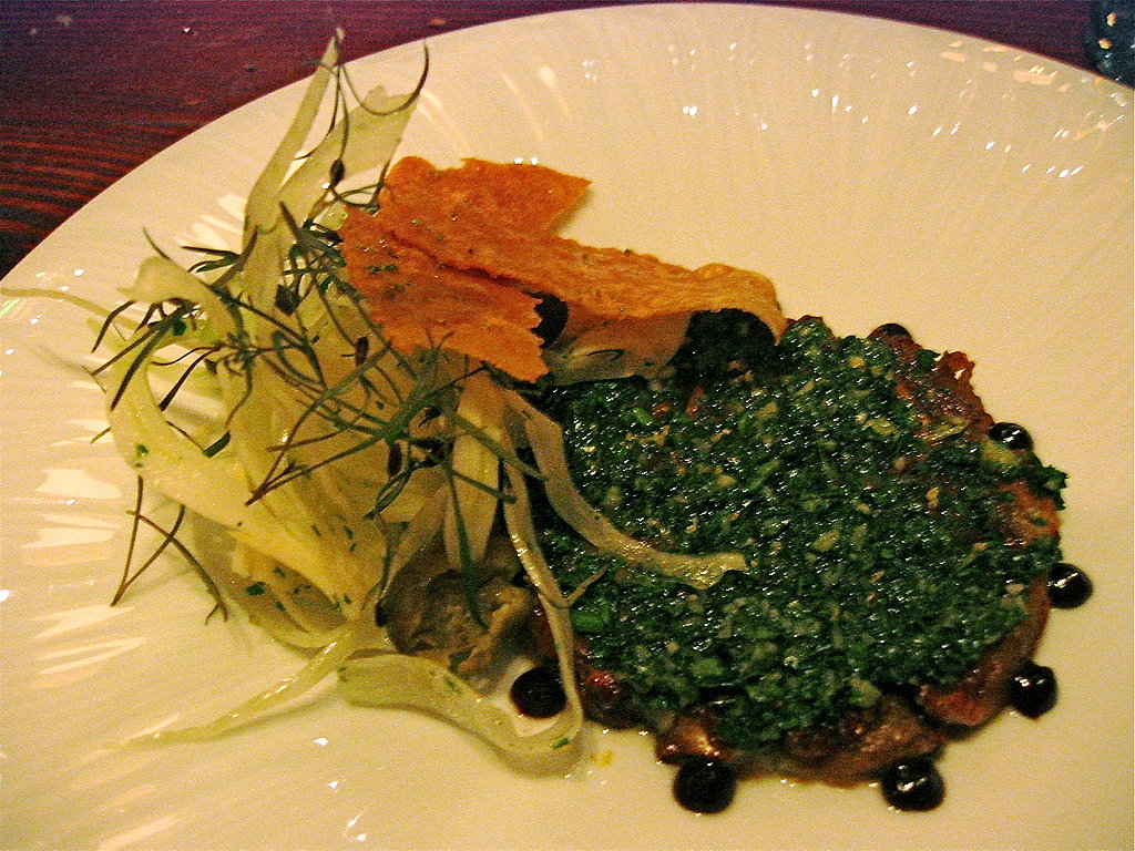 Sunchoke Carpaccio With Salsa Verde