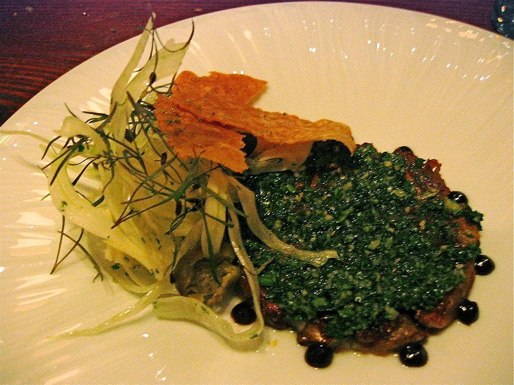 Sunchoke Carpaccio With Salsa Verde