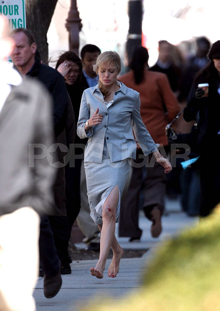 Angelina on set 3/9/09