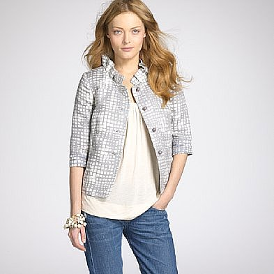 Crocodile cocktail jacket ($168) - J.Crew