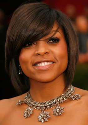Taraji P Henson at Oscars 2009: Hair and Makeup Photo