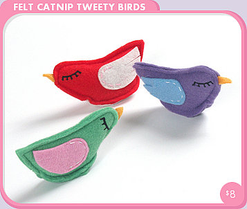 Felt Catnip Tweety Bird Cat Toys ($8)