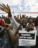 Tsvangirai vowed to rebuild Zimbabwe's shattered economy and end political violence.