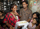 Child actor Rubina Ali's parents share sweets to celebrate.