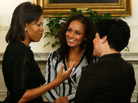 Michelle Obama Vists DC Schools With Alicia Keys, Sheryl Crow (Photos)