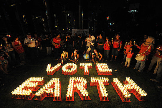 Earth Hour Clocks a Big Success