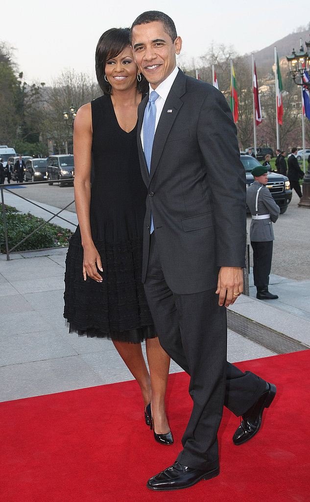 Barack Takes on France and Germany With Michelle by His Side