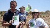 Liev Schreiber and Naomi Watts Plant Trees WIth Sacha and Kai