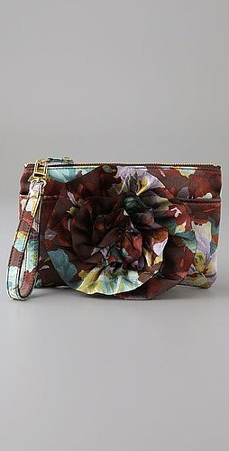 Felix Rey Zip Top Flower Clutch