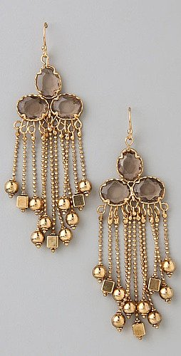 Rachel Leigh Geometric Fringe Earrings