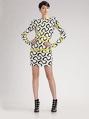 Emilio Pucci - Open-Back Silk Mini Dress - Saks.com