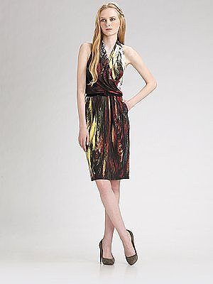 Catherine Malandrino - Silk Halter Dress - Saks.com