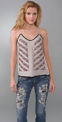 JMM Embroidered Applique Top