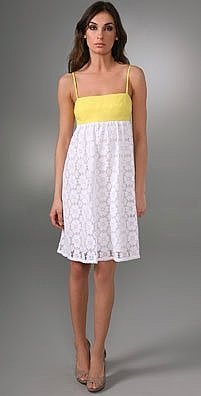 Milly Raffia Crochet Daisy Combo Dress