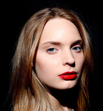 Ruffian Red Lipstick by MAC at 2009 Fall Fashion Week in New York