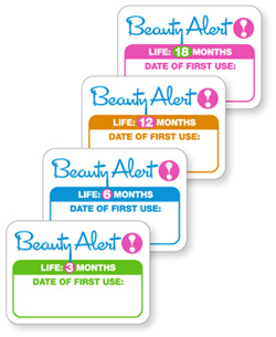 Beauty Alert! Stickers For Keeping Track of Makeup Expiration Dates