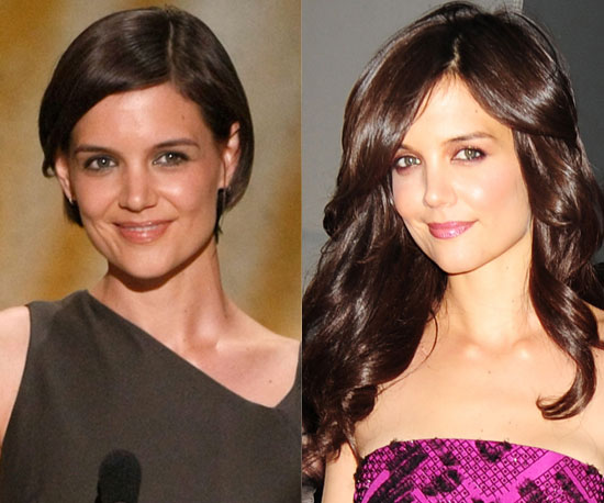 Which length is better on Katie Holmes?