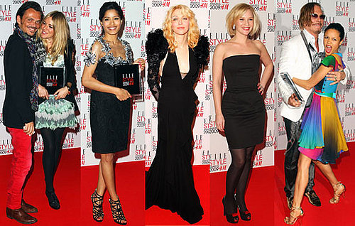 Photos of Sienna Miller, Courtney Love, Joanna Page, Freida Pinto, Thandie Newton and  Mickey Rourke at Elle Style Awards 2009