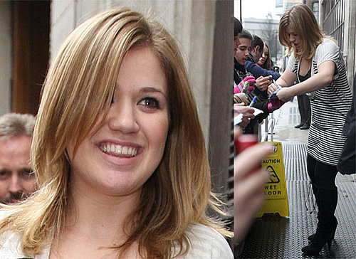 "Photos Of Kelly Clarkson At Radio One, She's Currently Number One In The Midweek UK Charts with ""My Life Would Suck Without You"""