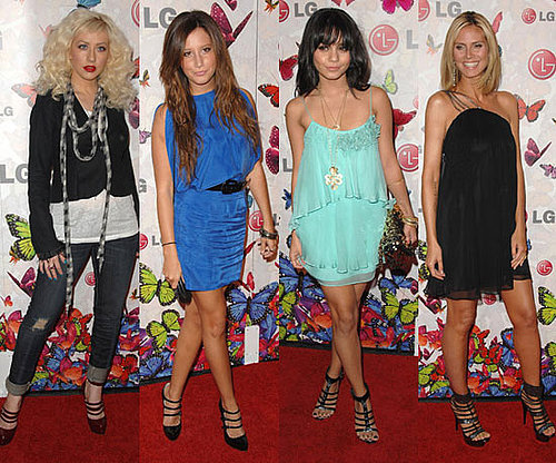 "Photos of Heidi Klum, Christina Aguilera, Vanessa Hudgens, Ashley Tisdale at LG ""Rumorous Night"" Launch Party"