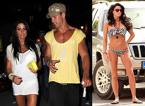 Photos of Jordan aka Katie Price in Bikini For Calendar Shoot and With Model Anthony Lowther on Holiday in Ibiza