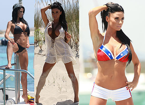 Photos of Jordan aka Katie Price  in Bikini on Calendar Shoot in Ibiza and Out With Model Anthony Lowther