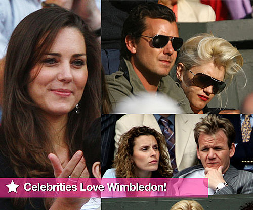 Photo Slideshow of Celebrities at Wimbledon Including Kate Middleton, Gwen Stefani, Gavin Rossdale, Tana and Gordon Ramsay