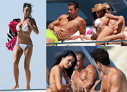 Photos of Jordan aka Katie Price in Bikini on Boat With Anthony Lowther in Ibiza, With a Cross Over Her Tattoo of Peter's Name