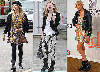 Photos of Dakota Fanning, Agyness Deyn and Fearne Cotton in Chunky Boots