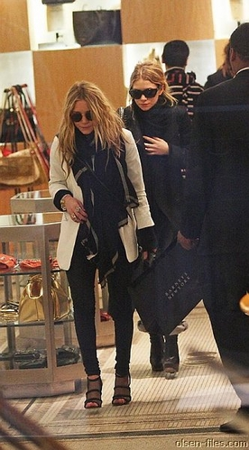 Mary-Kate and Ashley at Barneys
