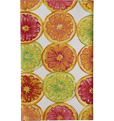Crate and Barrel - Grapefruit Print Dishtowel shopping in Crate and Barrel Dishtowels, Aprons, Potholders