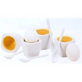 Amazon.com: Square Egg Cups and Spoons - Set of 4 by BIA Cordon Bleu: Home &amp; Garden