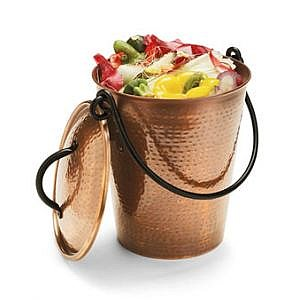 Gardeners Copper Finish Compost Pail Compost Pails