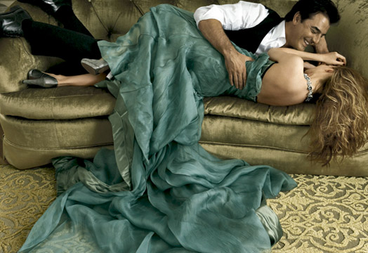 sarah jessica parker and chris noth photoshot by Annie Leibovitz