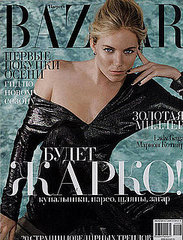 Sienna Miller does Harper's Bazaar Russia july/august 09