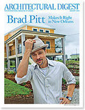 Brad Pitt does Architectural Digest jan 09