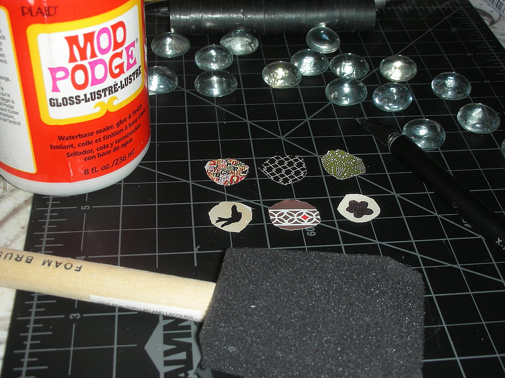 Next, you'll need Mod Podge ($5.19, gloss or matte) and a foam brush ($0.18).