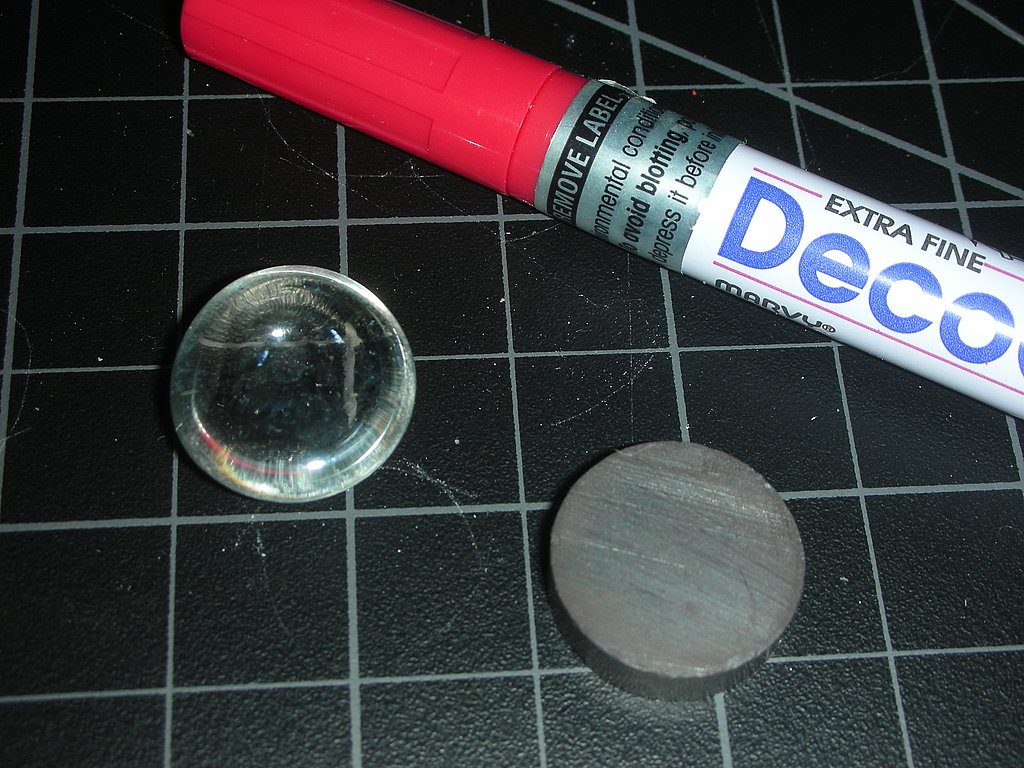 Bonus! You can also paint the flat side of your glass gem with paint markers. I like the Decocolor brand in extra fine or fine.