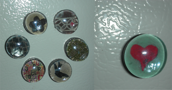 Fini! No one can never have too many magnets. And, it's a cute, personal little gift for friends (or lovers).