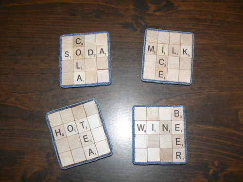 Scrabble lovers, let your obsession shine with these Scrabble coasters.