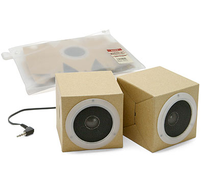 The MUJI Cardboard Speakers ($42) are simple, streamlined, and totally eco chic.