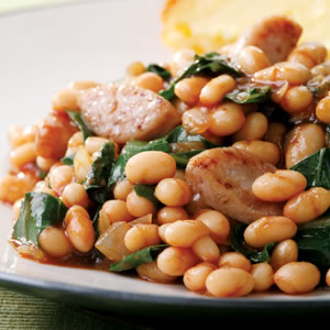 Fast & Easy Dinner: BBQ Baked Beans and Sausage