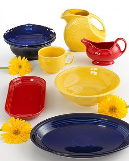 Add bright color to your kitchen with Fiesta dishware ($11.99 and up).