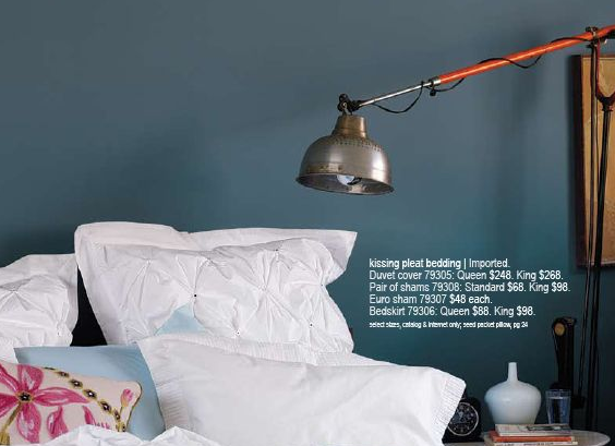 Mix Masculine Lamps With Feminine Bedding