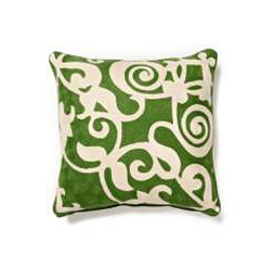 The Isola Bella Pillow ($58) is one of Anthropologie's more reasonably priced pillows, and its wool exterior, while not necessarily fabulous feeling, will be durable.