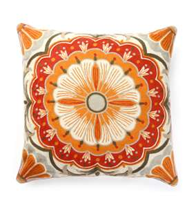 The Festival Pillow ($128) features fab crewelwork.