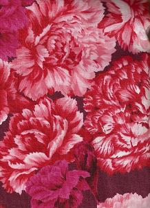 Northcott's January Carnation Fabric ($6.30 a yard) would look amazing on a retro apron, or sewn onto the border of a white cotton curtain.