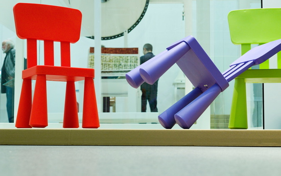 I love the animated, stumpy legs of the children's Mammut chairs, which were designed by Morten Kjelstrup and Allan Ostgaard in 1994.