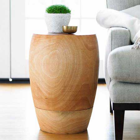Add some eco seating to your living room with the Mango Stool ($199). It's made of mango wood from trees that no longer produce fruit.