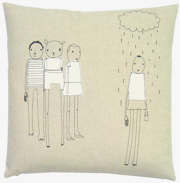 The K Studio Rain Pillow ($116), handmade from sustainable materials including hemp, organic cotton, and recycled wool, finds something charming about being alone in the rain.
